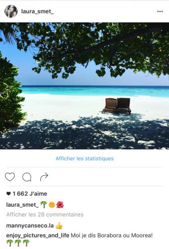 Placement de produit : Hôtel Bayann Tree Maldives / Laura Smet