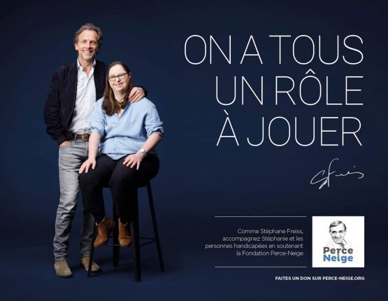 Campagne publicitaire pour l'Association Perce-Neige avec Stéphane Freiss