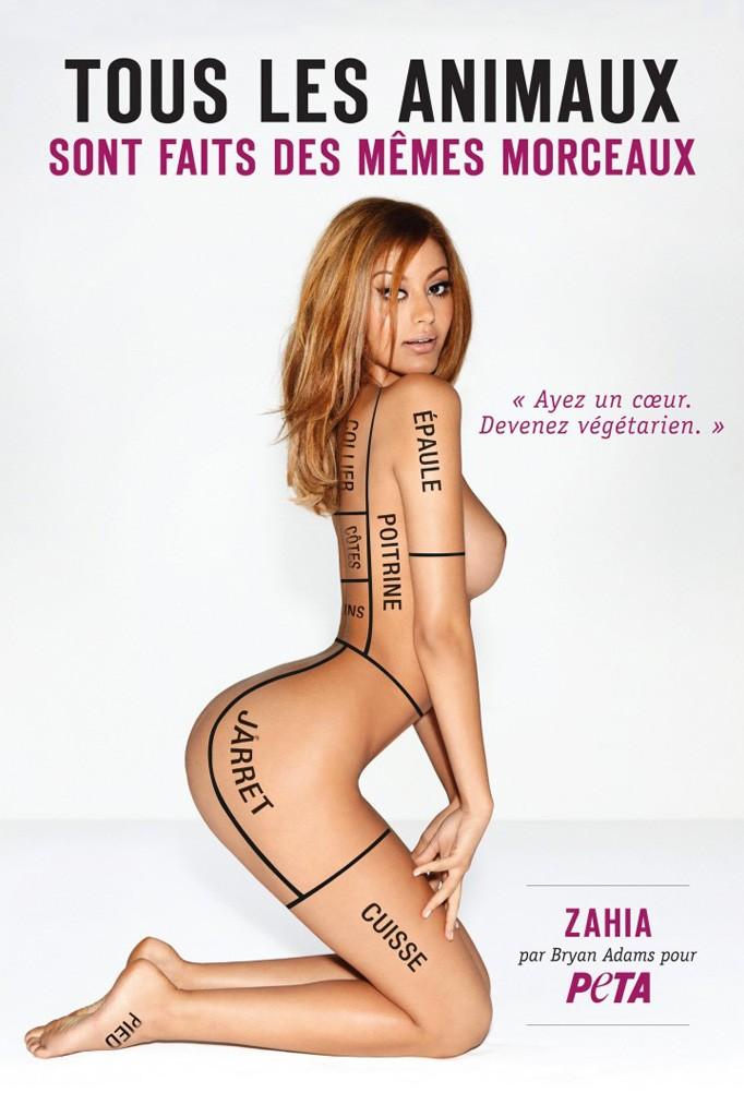 Campagnes publicitaires :PETA-Zahia by Brian Adams