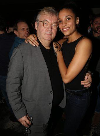 Dominique Besnehard et Stefi Celma  a l'after party de la Saison 2 de la serie 'Dix Pour Cent' au Baron a Paris, France, le 15 decembre 2016. Photo by Jerome Domine/ABACAPRESS.COM