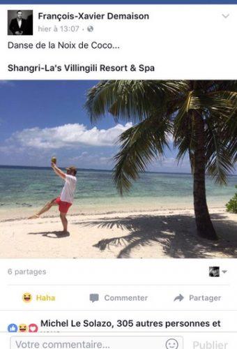 Placement de produit : Hôtel Shangri-La Vilingili Maldives / François-Xavier Demaison