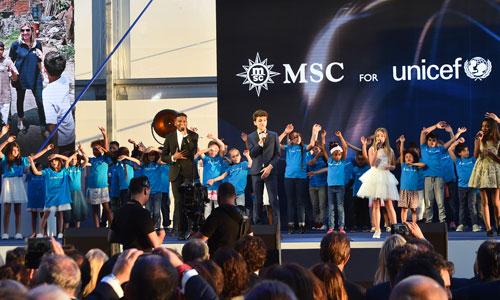 Inauguration Paquebot MSC Croisière - Placement de personnalités : Kids United