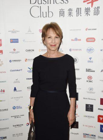 Nathalie Baye lors du déjeuner du Chinese Business Club à l'hôtel Inter Continental Opéra.