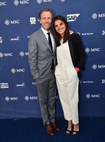 Inauguration Paquebot MSC Croisière avec Stéphane Freiss et sa femme Ursula - Placement de personnalités