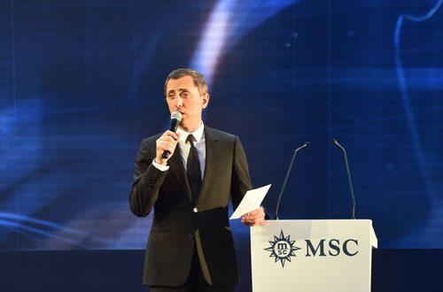Inauguration Paquebot MSC Croisière avec Gad Elmaleh - Placement de personnalités
