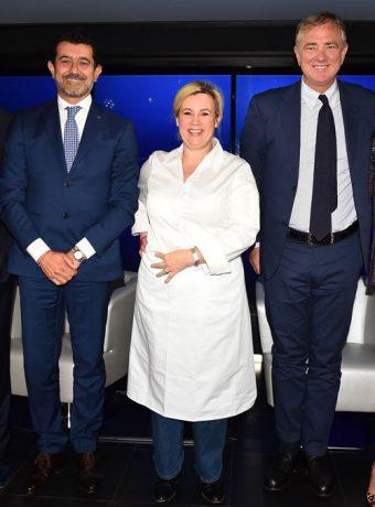 Inauguration Paquebot MSC Croisière avec Giani Oronato, Hélène Darroze et Pierfrancesco Vago - Placement de personnalités