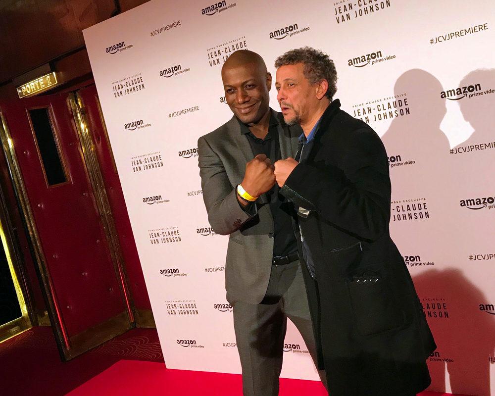 Soirée de lancement de la série Jean-Claude Van Johnson avec Harry Roselmack