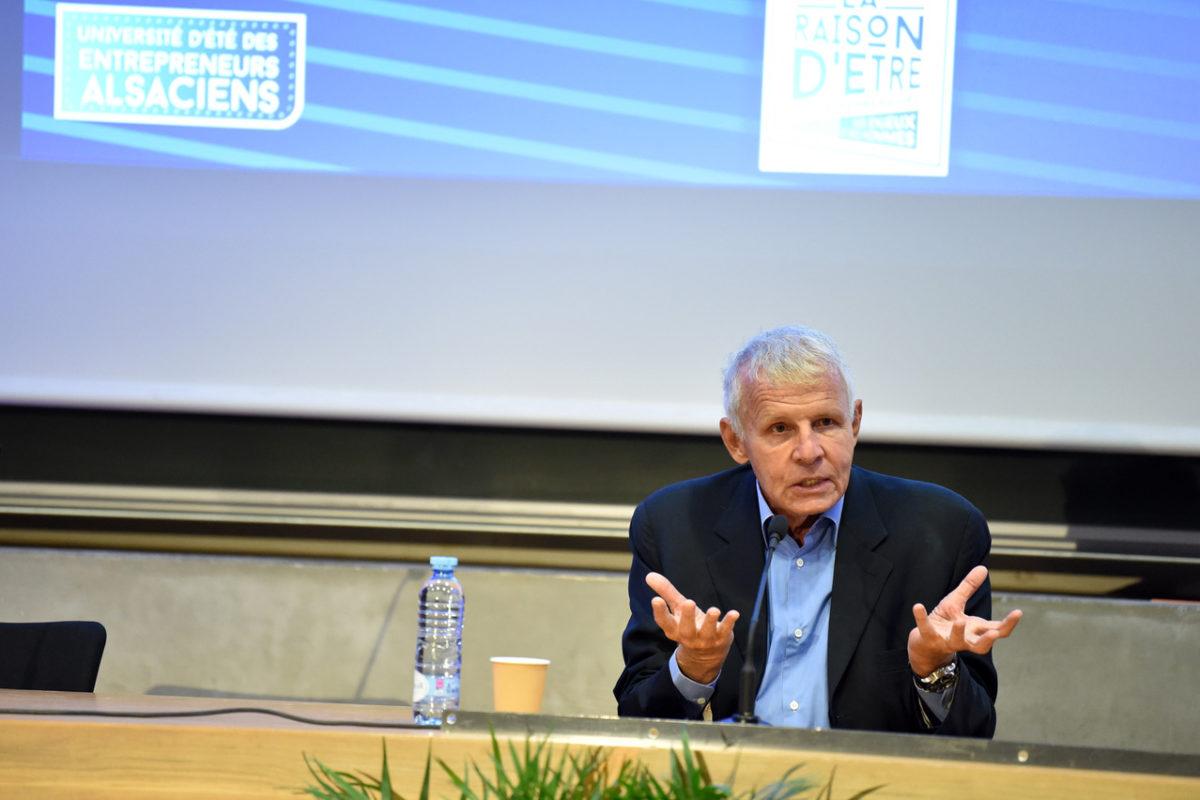 Université d'Eté du Medef à Strasbourg avec Patrick Poivre d'Arvor