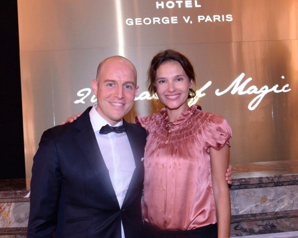 Anniversaire 20 ans du Georges V Paris - FourSeasons Hôtel - Thibault Drege, Directeur du Four Seasons Hotel George V et Virginie Ledoyen