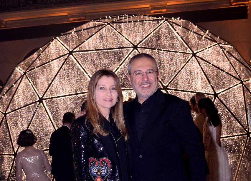 Anniversaire 20 ans du Georges V Paris - FourSeasons Hôtel - Eli Saab et sa femme claudine